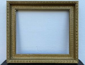 Antique Frame For Oil Painting 19.JH. Wood Stuck Gold Gründerzeit Art Nouveau