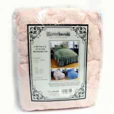 Better Trends Chenille Tufted Bedspread in Pink - Twin