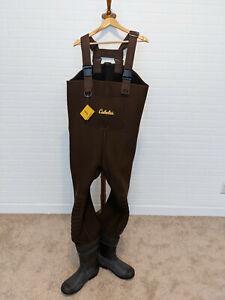 Mens Cabela's Classic Series II Neoprene Lug Sole Waders Thinsulate 200g Size 12