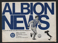 FOOTBALL MATCH ANGLO ITALIAN INTER LEAGUE CLUBS COMPETITION ALBION / AS ROMA '70