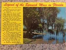 POSTCARD UNUSED FLORIDA SWAMPS-THE LEGEND OF THE SPANISH MOSS IN FLORIDA