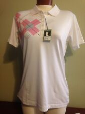 NWT Kate Lord Women's Performance Polo Pattern Golf Leisure Small or Medium NEW
