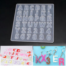 Alphabet Letter Number Silicone Mold Necklace Jewelry Resin Mould DIY Craft