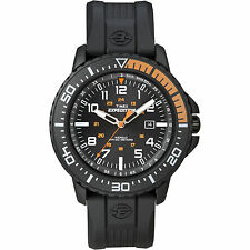 Timex Men's Expedition | Black Case & Resin Strap Indiglo Uplander Watch T49940