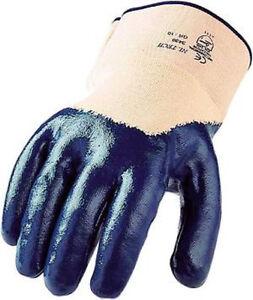 Asatex - Nitril - Arbeitshandschuh mit Stulpe (Blau) Gr. 10 **Sparpack 12 Paar**