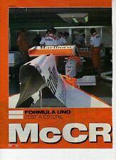 W14 Ritaglio Clipping 1995 Formula 1 Estoril Test Crisi McLaren Mansell MP4/10