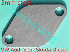 EGR Valve blanking plate 3mm Steel VW SEAT SKODA  AUDI FORD T3 T4 T5 R6 TransT25