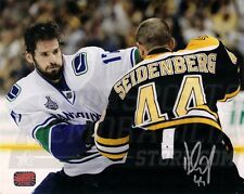Dennis Seidenberg Boston Bruins Signed Fight Canucks Ryan Kesler Cup 8x10