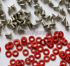 400PCS M3 Screws and Motherboard Red Insulating Fiber Washer Kits