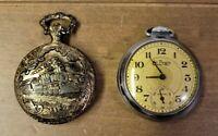 Vintage St. Regis Ingraham & Geneva Antimagnetic wind up Pocket Watches