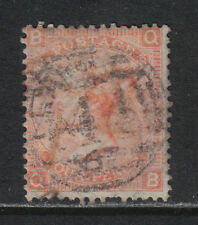 Great Britain 1865 Queen Victoria 4p dull vermillion plate 8 (43a) used