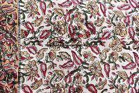 5 Yard Hand Block Print Handmade Cotton Indian Natural Sanganeri Floral Fabric