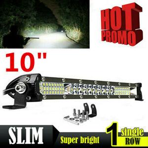 10inch Slim LED Light Bar Spot Flood Combo Work SUV Boat Offroad Driving ATV 4WD
