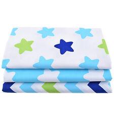 3PCS Cotton Star Fabrics Needlework Textile Sewing Clothes DIY Crafts Handmade
