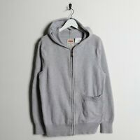 Vintage LEVIS Small Logo Zip Up Hoodie Sweatshirt Grey | Medium M