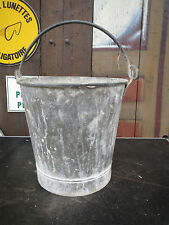 Ancien seau en zinc galva - Déco de jardin old stool cendre puit french antique