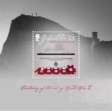 Gibraltar 2018  Einde 1e wereldoorlog  WWI  blok-m/s         postfris/mnh