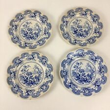 4 Staffordshire Plates Italian Flower Garden Pattern John William Ridgway 1830's