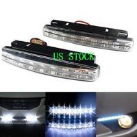 2X 8 LED Daytime Running Lights Car Driving DRL Fog Lamp Light Super 12V White