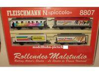 """Fleischmann N 8807 Wagenpackung """" Schwan-Stabilo""""  , neu, OVP"""