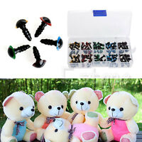 New 100Pc 8mm 5 Colors Plastic Safety Eyes Washer For Teddy Bear Doll Toy Puppet