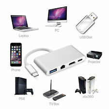 2018 New USB C to HDMI Type C Hub Adapte V8A9 4K+ RJ45 Gigabit Ethernet+ USB 3.1