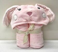 NEW Pottery Barn KIDS Critter BUNNY Baby Hooded Bath Wrap Towel~PINK~NO MONO