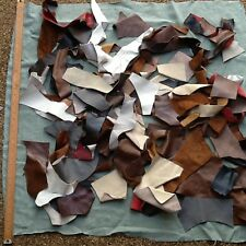 Soft Leather hide offcuts scraps.mixed colours  2 kilo