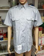 Marlow White ~ Mens Size 15-15.5 Gray Tapered Body Short Sleeve Uniform Shirt