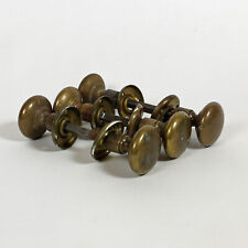 """Antique Brass Door Knobs - Three Sets, 1 3/4"""" diameter"""