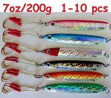 1-10 pcs 7oz / 200g Knife Vertical Speed Jigs Saltwater Fishing Lures