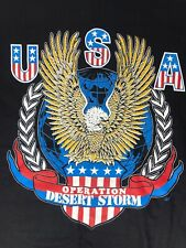 Vintage Usa Operation Desert Storm 1990-91 single stiched T-Shirt Mens Xl New