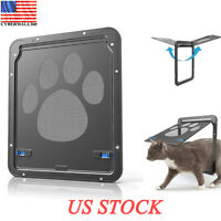 Pet Screen Door Dog Footprint Pattern Cat Window Screen Doggie Flap Pet Supplies