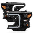 Anzo 111398 Black Project Plank Style Switchback Headlights for 18-19 Ford F-150