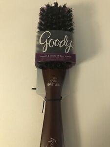 Goody Hair Brush 100% Boar Bristles Wooden Handle And Body