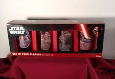 Star Wars The Force Awakens New Set of Four 8 oz Glasses