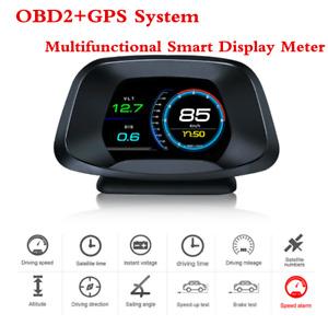 OBD2+GPS Car Computer Head Up Display ECT RPM FUE VLT RTC Smart Digital Meter