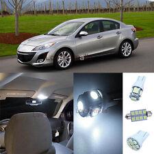 White Car Bulb SMD Lights Interior LED Package Kit For Mazda 3 2010-2013