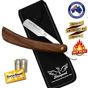 Sharp Barber Salon Straight Cut Throat Shaving Razor Shavette RASOIRS +10 Blades