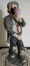 "Vintage Emmett Kelly Jr. Porcelain Clown Figurine ""Eating Ice Cream Cone"""