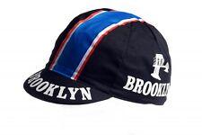 Cycling cap Rennrad-Mütze Vintage Retro Fixed Singlespeed Brooklyn schwarz