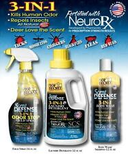 Top Secret Scent Defense Field Spray, Laundry Detergent & Body Wash Combo Pack