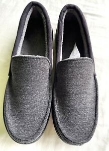 Unbranded Mens Moccasin Slippers Comfortable Slip On Indoor House Shoes Size 11