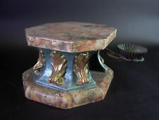 - Konsole / Sockel - Holz geschnitzt & gefasst - Holzsockel mit Blattgold