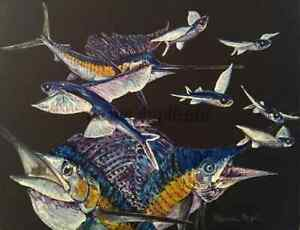 """UNTITLED SAILFISH #28"" TRIPLEMGALLERY MICHAEL MEYER ORIGINAL 11X14"
