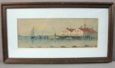 THOMAS ROYAL WAITE__Vintage Signed Watercolor__Framed__Some Spotting__SHIPS FREE