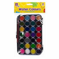 Watercolour Paints Pallet - 28 Assorted Colours Children Arts & Craft Kids Paint