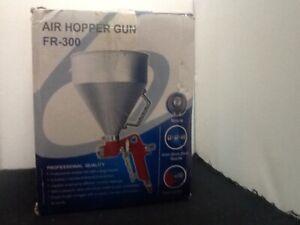 Ceiling Wall Texture Air Hopper Spray Gun Paint Drywall Painting 3 Nozzles NEW
