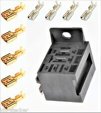 Sockel f. Kfz - Relais 5 x 6,3mm; 4 x 2,8mm Flachsteckhülsen Relaissockel Mini