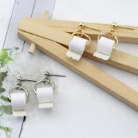 Lustige Rolle Toilettenpapier 925 Silber Ohrringe für Frauen Geschenke